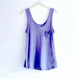 Juicy Couture Sheer Grey Embellished Tank